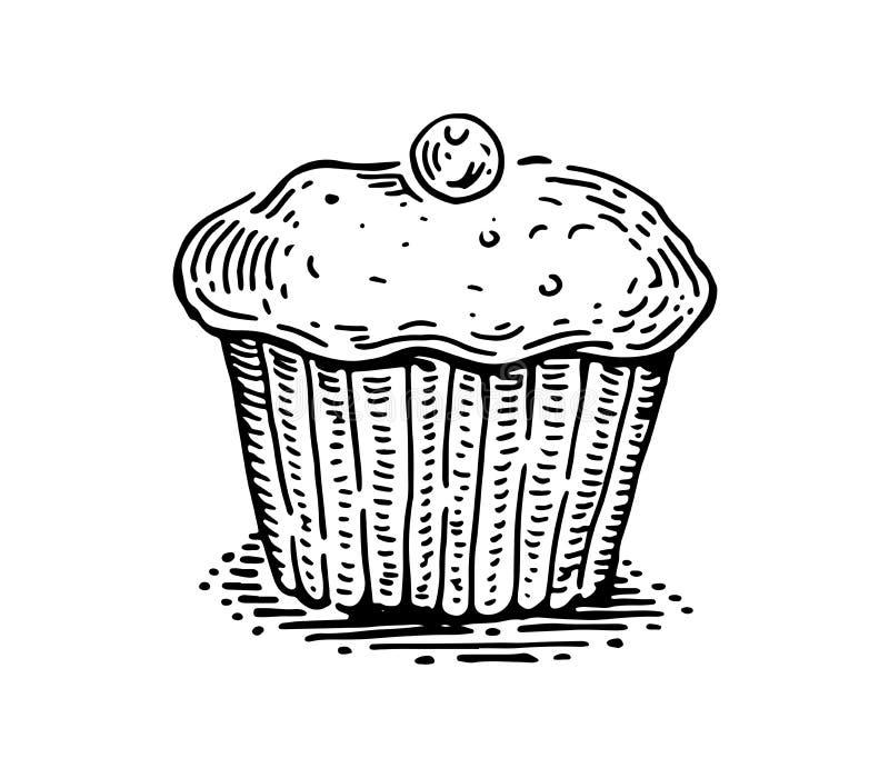 Petit pain avec une baie illustration libre de droits
