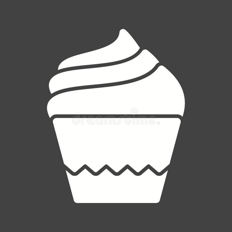 Petit pain crème illustration de vecteur