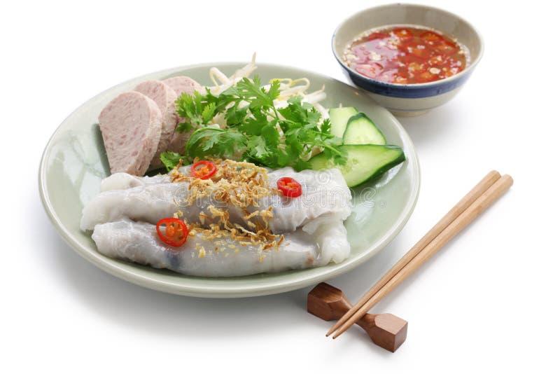 petit pain cuit la vapeur par vietnamien de nouille de riz image stock image du chalotes. Black Bedroom Furniture Sets. Home Design Ideas
