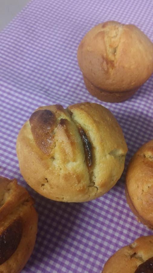 Petit pain de chocolat de vanille image stock