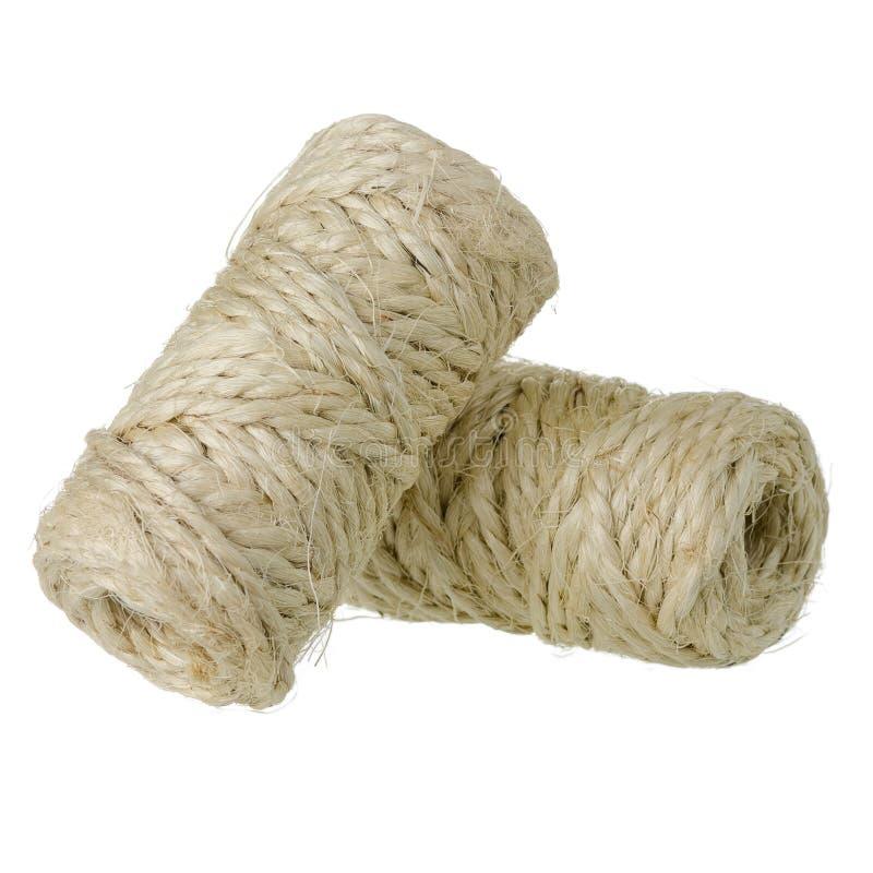 Petit pain de corde de sisal photos stock