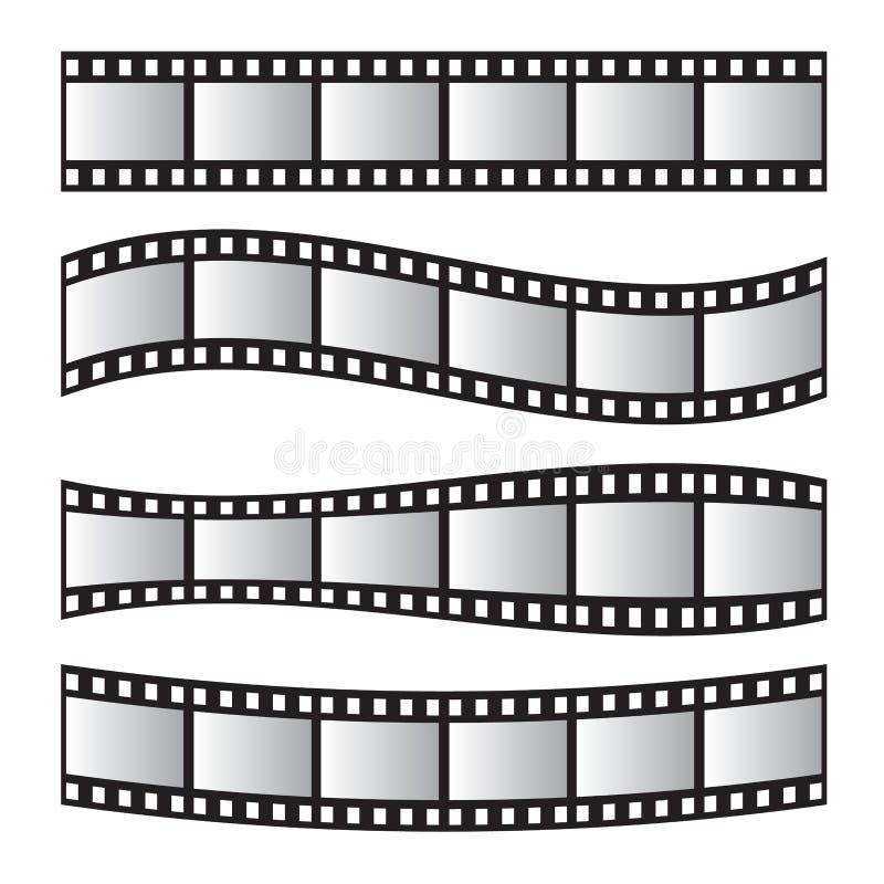 Petit pain de film, film 35mm, ensemble de cadre de film de glissière Négatif et bande illustration stock