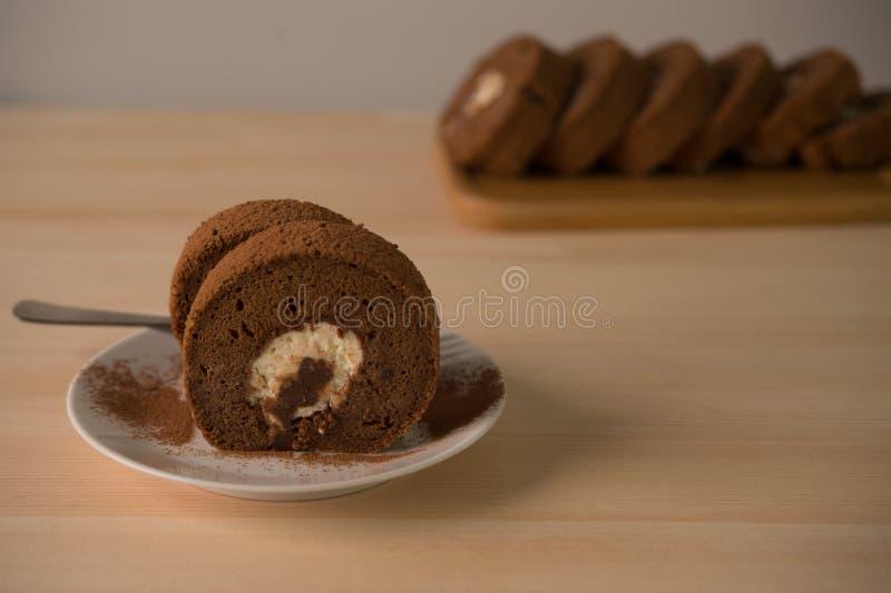 Petit pain de g?teau de chocolat image libre de droits