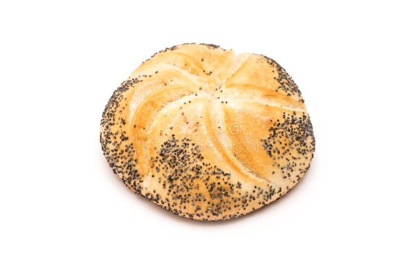 Petit pain de Kaiser avec Poppy Seeds images stock