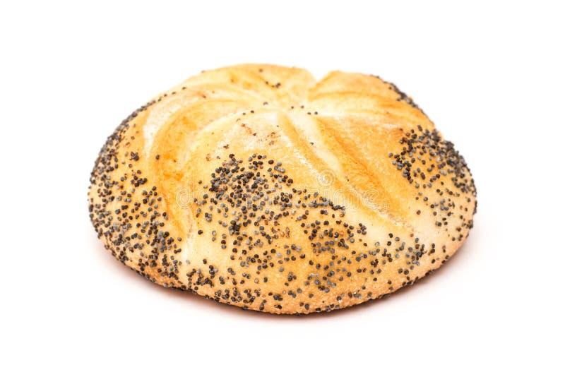 Petit pain de Kaiser avec Poppy Seeds photographie stock libre de droits