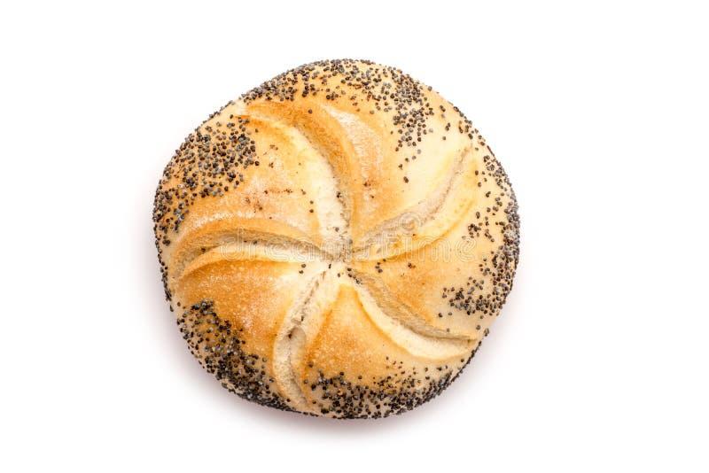 Petit pain de Kaiser avec Poppy Seeds photographie stock