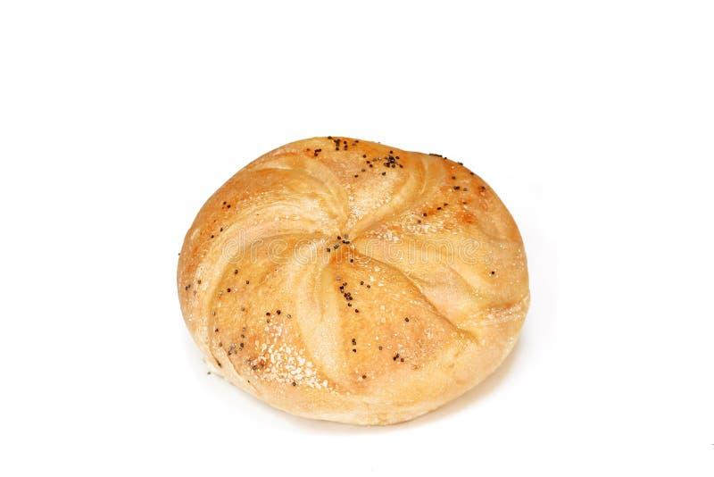 Petit pain de Kaiser/petit pain de Vienne d'isolement sur le blanc image libre de droits