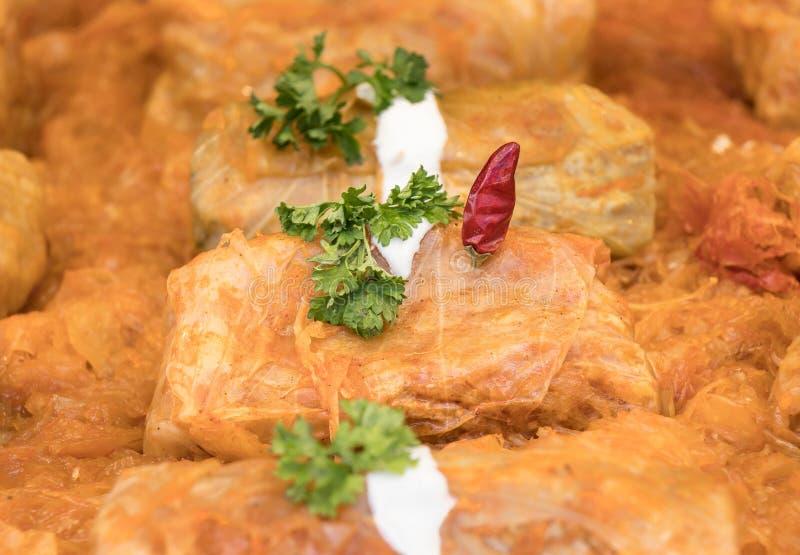 Petit pain de regard délicieux de chou à Budapest, Hongrie photographie stock libre de droits