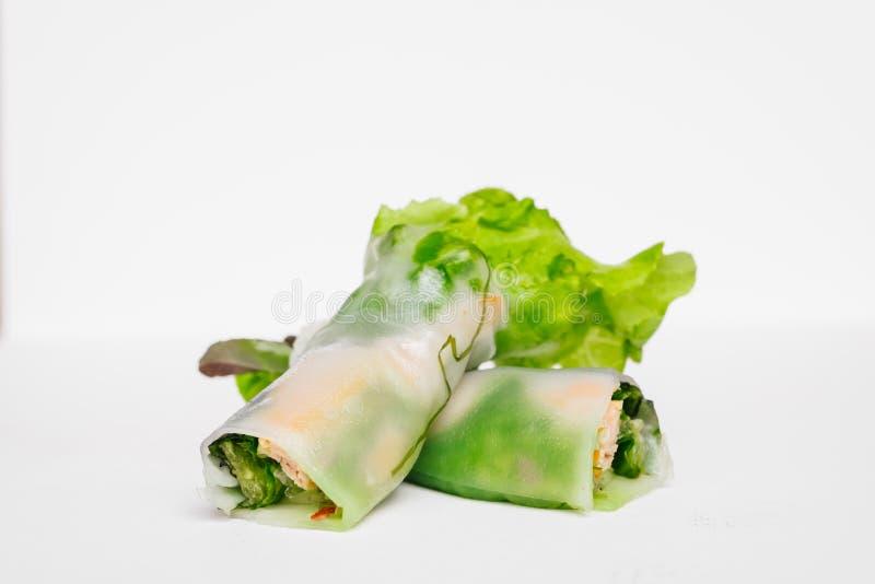 Petit pain de ressort frais thaïlandais photo stock