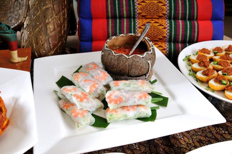 Petit pain de ressort vietnamien de style photos libres de droits