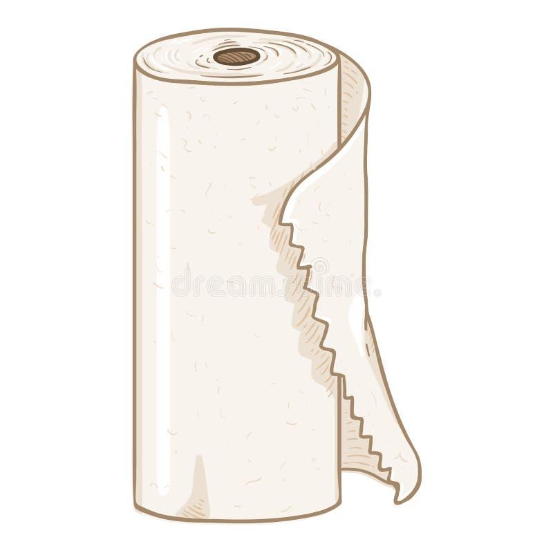 Petit pain de serviette de papier. Vecteur illustration  image stock