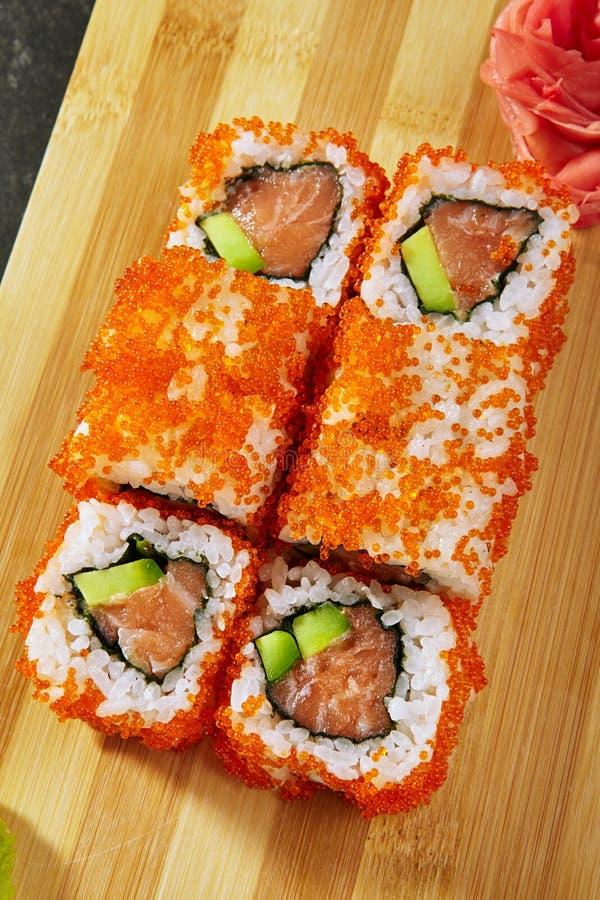 Petit pain de sushi de la Californie photo stock