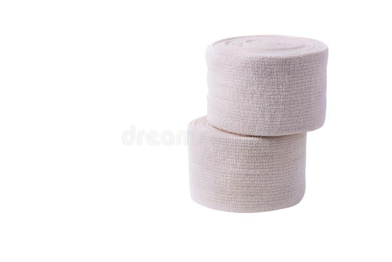 Petit pain m?dical de bandage d'isolement sur le fond blanc photographie stock
