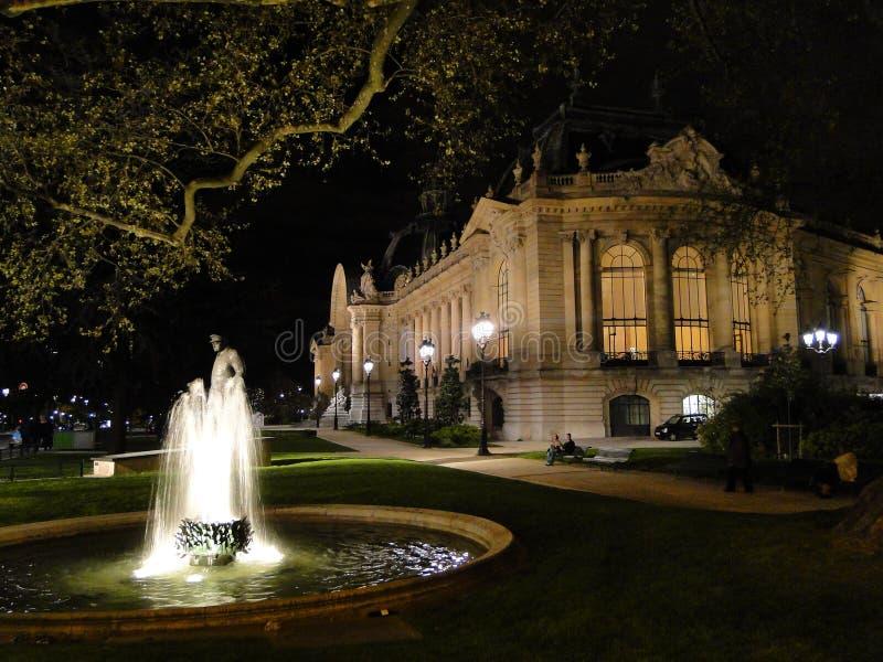 Petit Palais e a fonte fotos de stock