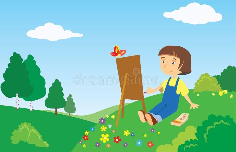Petit peintre illustration stock