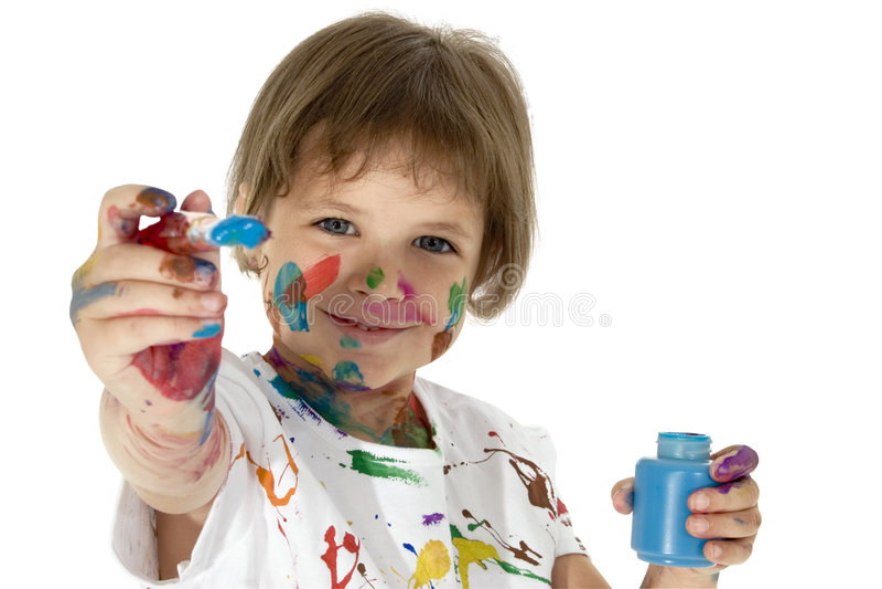 Petit peintre photo stock