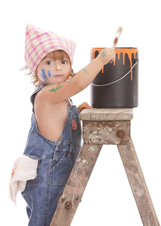 Petit peintre photo libre de droits