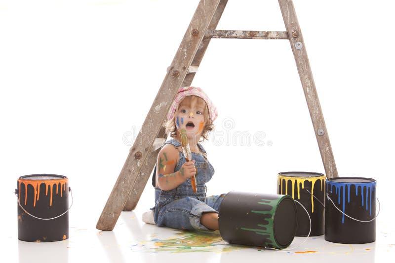 Petit peintre photographie stock