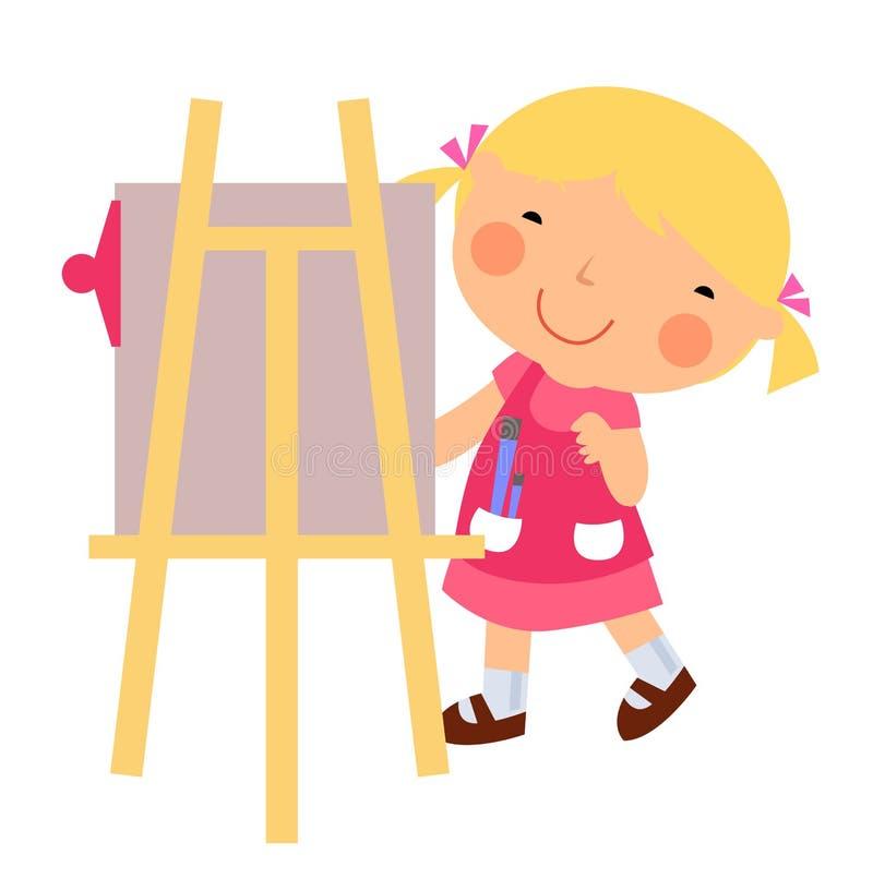 Petit peintre coloré illustration libre de droits