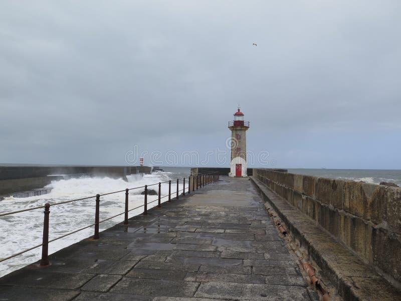 Petit phare à Porto photos libres de droits