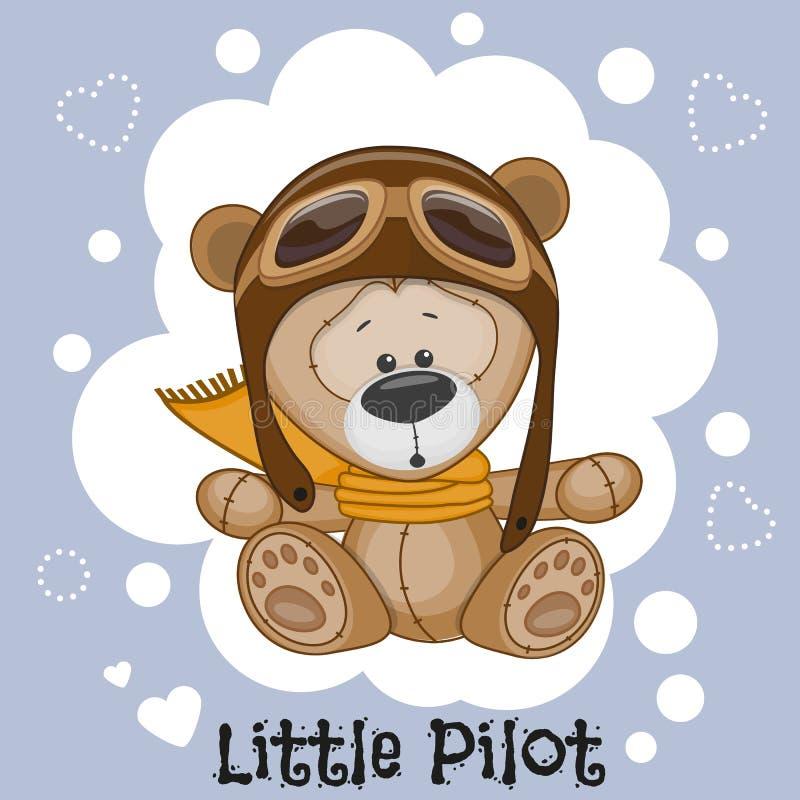 Petit pilote illustration de vecteur