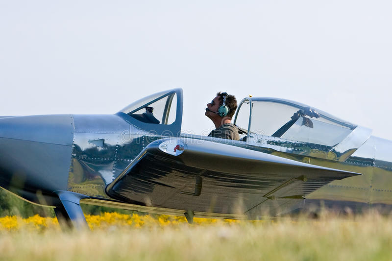 Petit pilote plat photo libre de droits