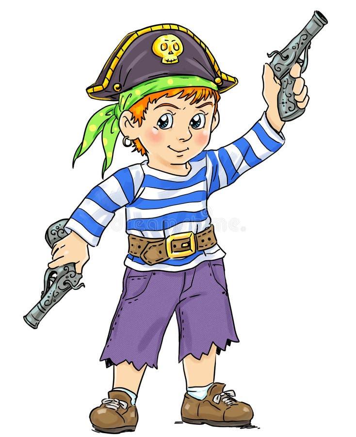 Petit pirate illustration stock