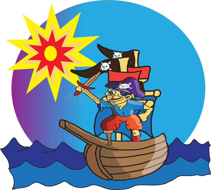 Petit pirate illustration libre de droits