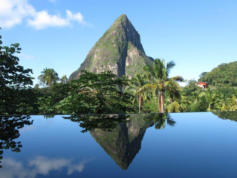 Petit Piton w St Lucia zdjęcie stock