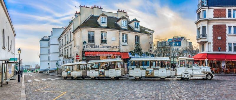 Petit pociąg Montmartre obraz royalty free