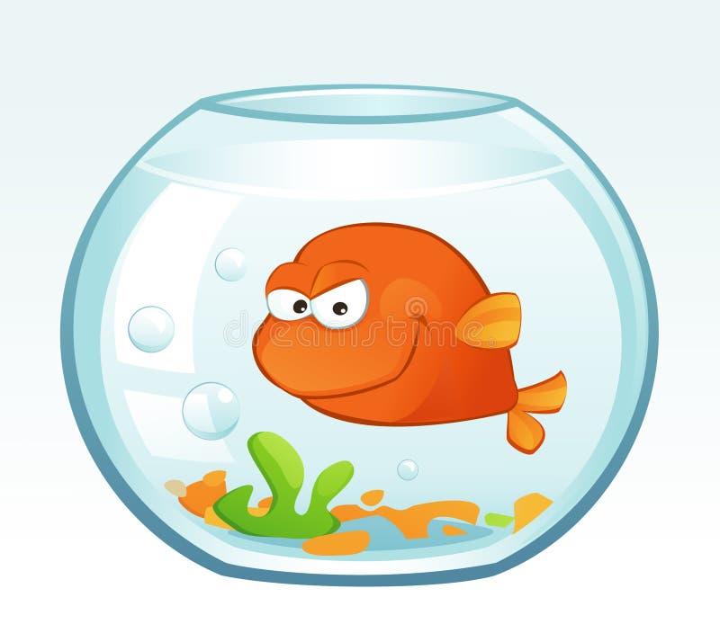 Petit poisson rouge (fâché) illustration de vecteur