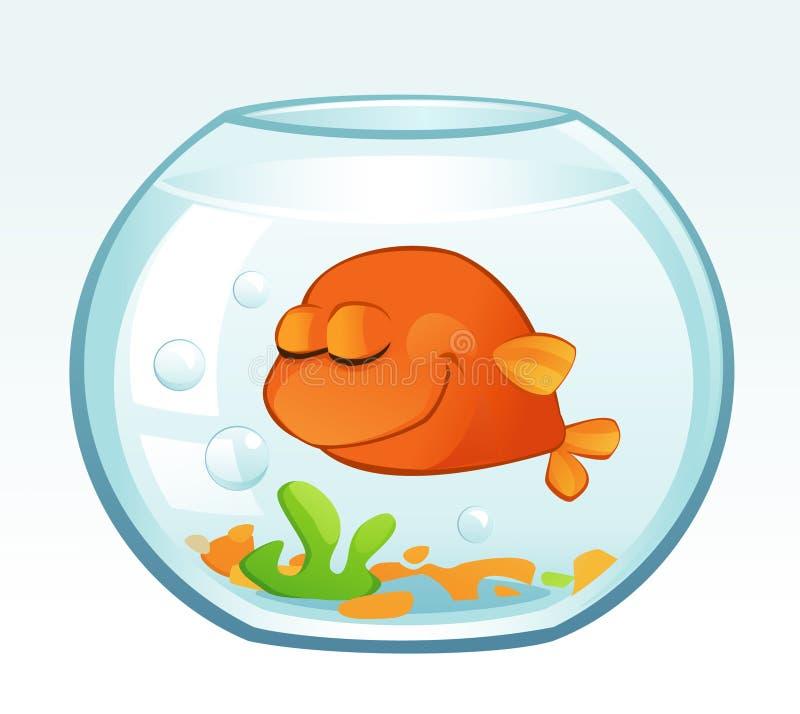 Petit poisson rouge (sommeil) illustration stock