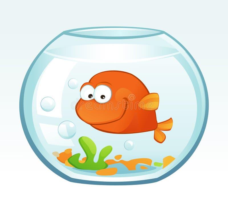 Petit poisson rouge (sourire) illustration stock