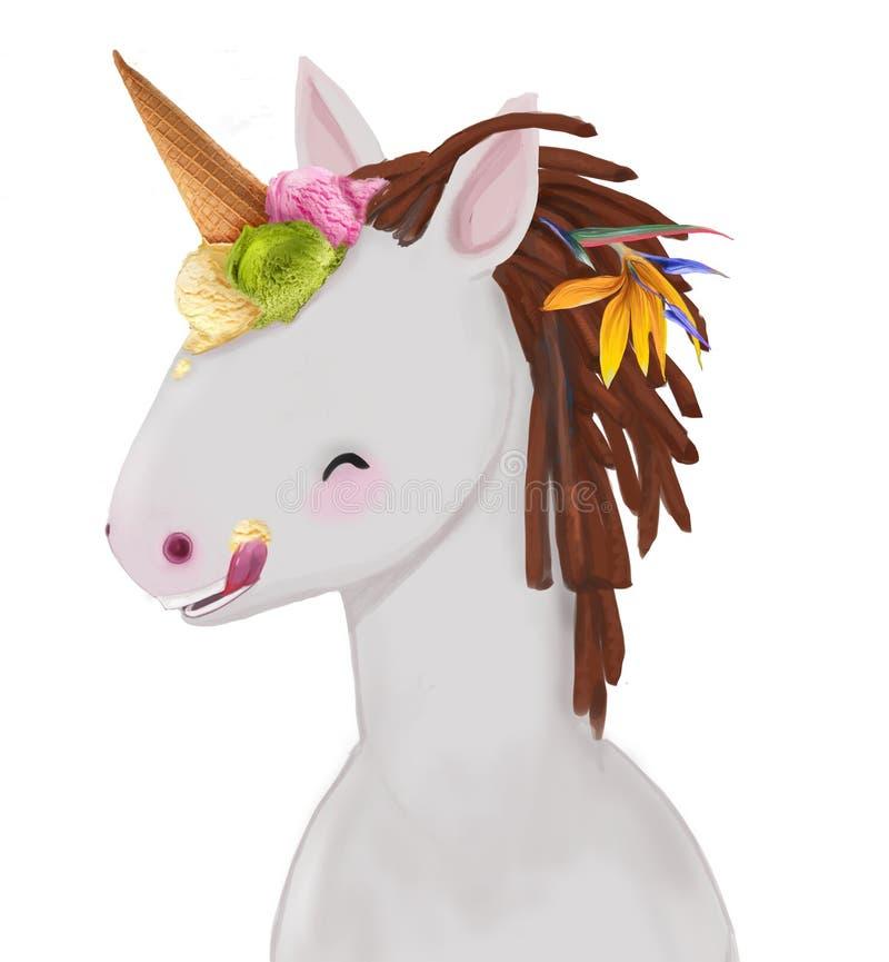 Petit poney mignon illustration de vecteur