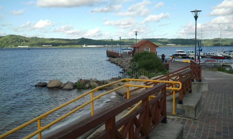 Petit port en Pologne photo stock