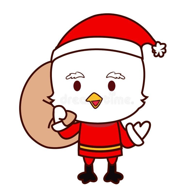 Petit poulet Santa illustration libre de droits