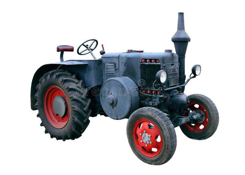 Petit rétro tracteur d'isolement sur le blanc images libres de droits