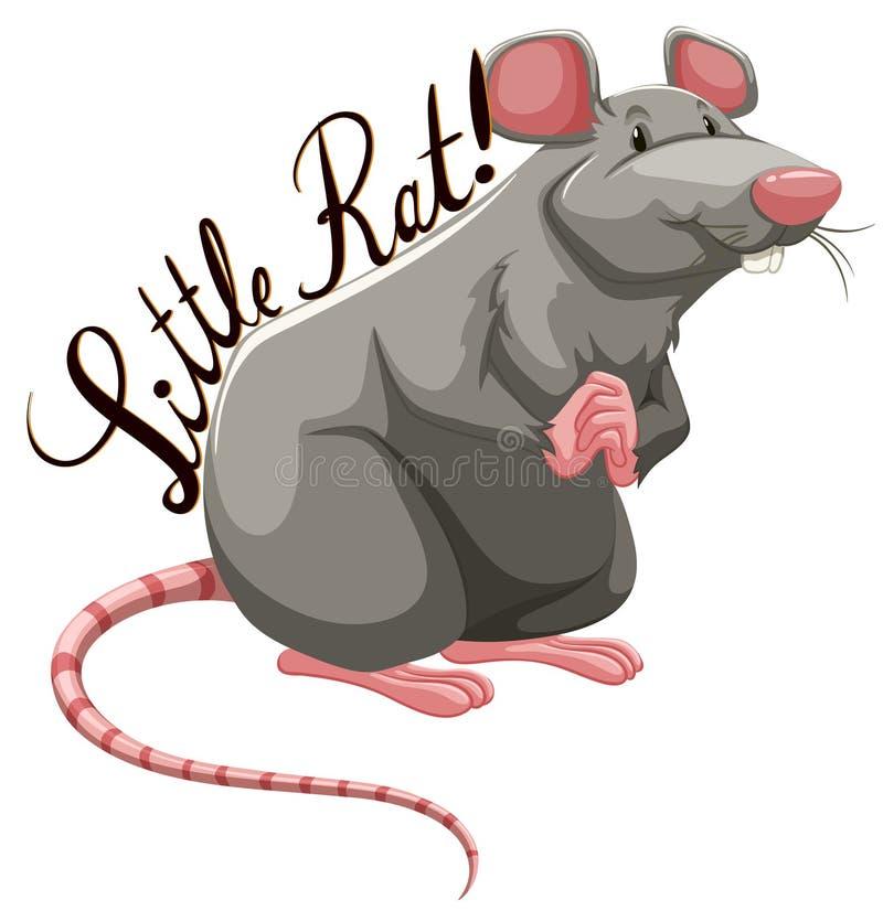 Petit rat avec le texte illustration stock