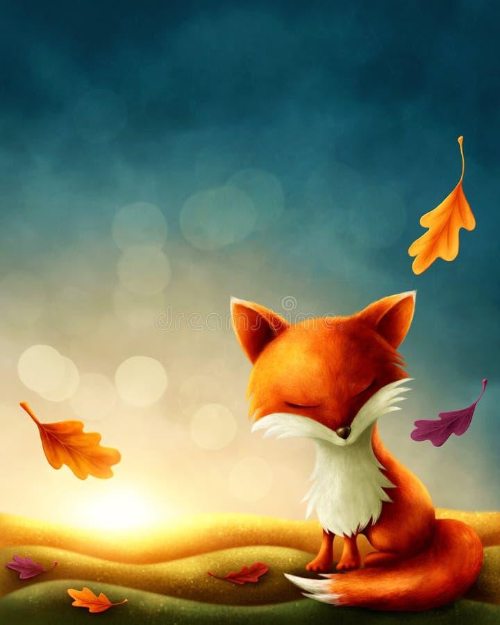 Petit renard rouge illustration stock