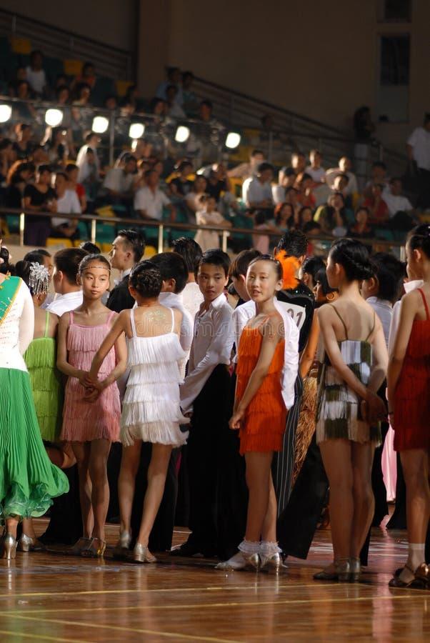 Petit ressortissant de danse de norme internationale de la joueur-Chine Nan-Tchang ouvert photo libre de droits