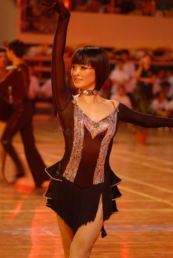 Petit ressortissant de danse de norme internationale de la joueur-Chine Nan-Tchang ouvert image stock