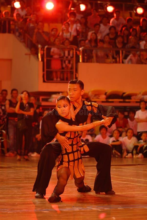 Petit ressortissant de danse de norme internationale de la joueur-Chine Nan-Tchang ouvert photo stock