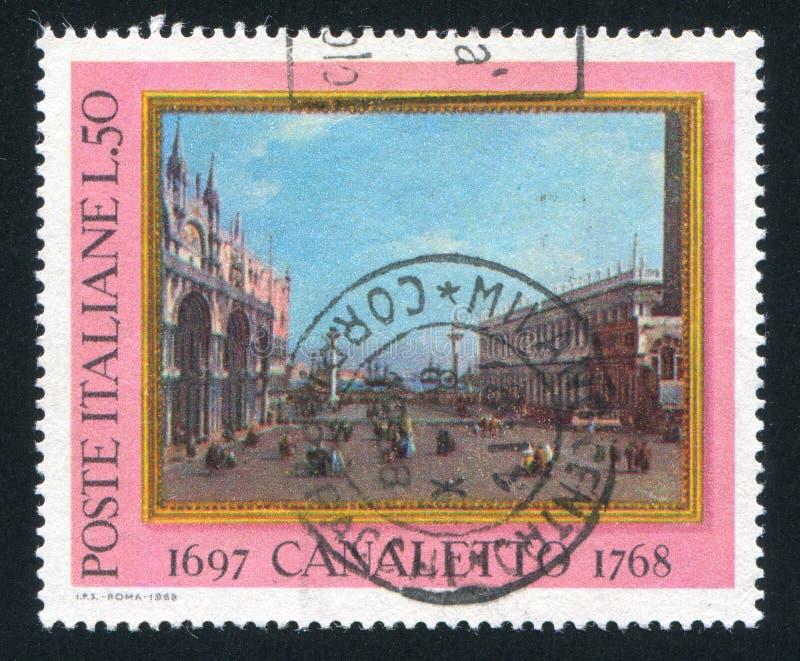 Petit saint Mark Place par Canaletto photos stock