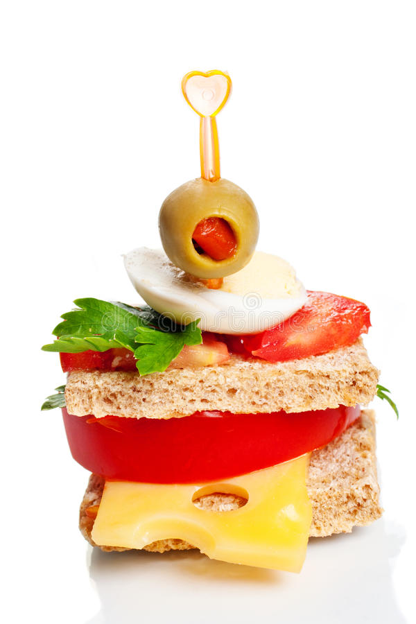 Petit sandwich à apéritif image libre de droits