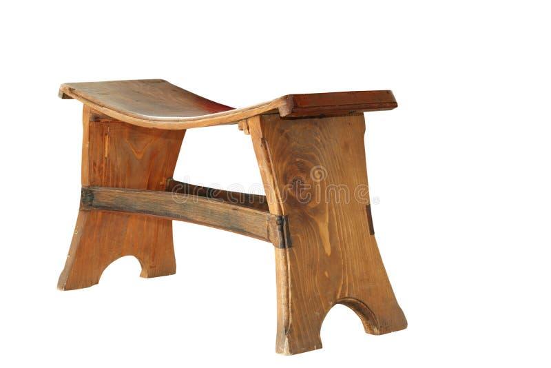 Petit siège traditionnel en bois photo stock