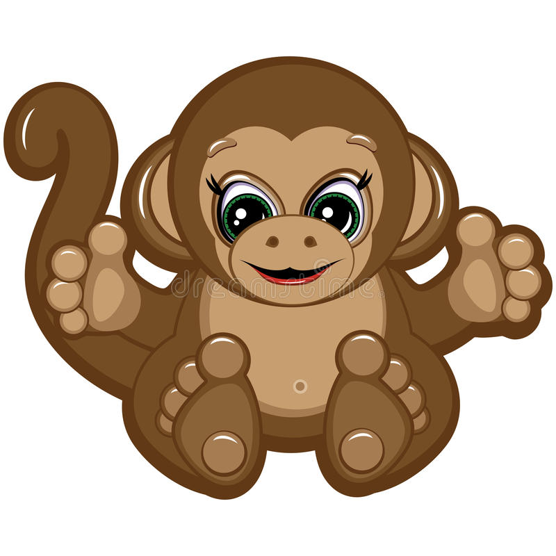 Petit singe illustration stock