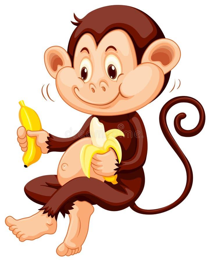 Petit singe mangeant des bananes illustration libre de droits