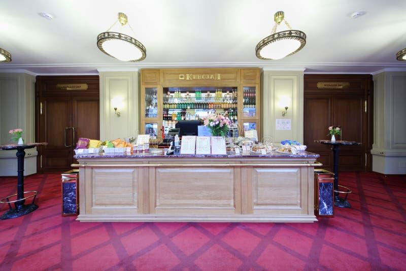 Petit snack-bar de cinéma dans la GOMME photographie stock