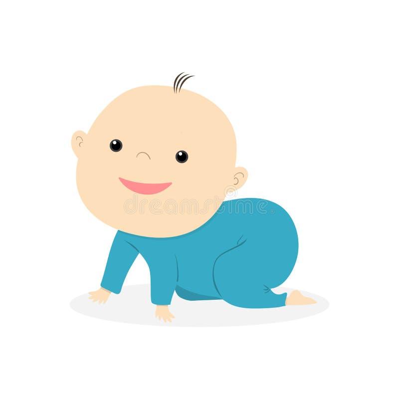Petit sourire mignon de bébé illustration stock