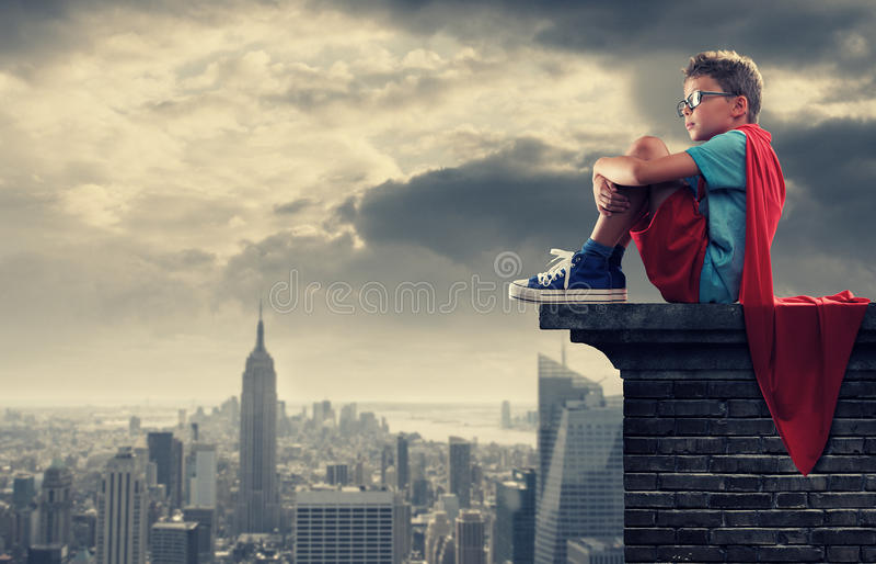 Petit super héros photos libres de droits